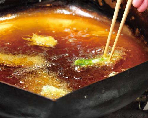 揚げたての天ぷらをどうぞ